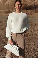 Вільний джемпер з англійської в'язкої / Свободный джемпер с английской вязкой, свитер женский