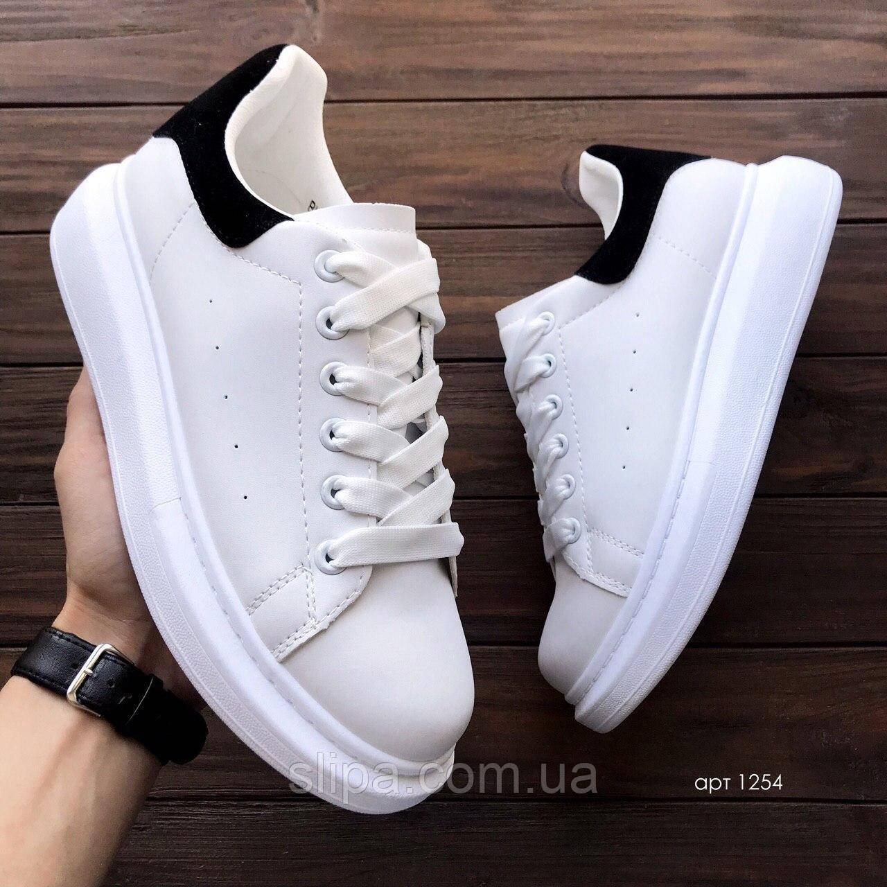 Чоловічі кросівки з еко шкіри Mac Vin White