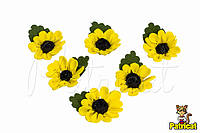 """Цветы """"Подсолнух"""" 3 см из Фоамирана (Латекса) 10 шт/уп"""