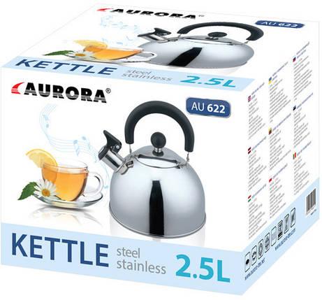 Чайник зі свистком 2.5 л Aurora 622AU, фото 2