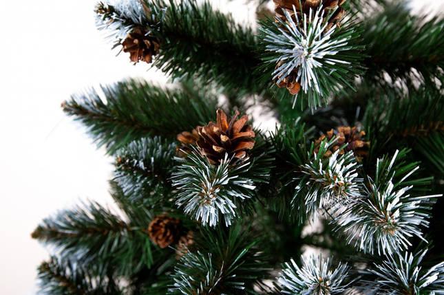 Новогодняя искусственная елка Лидия с инеем и шишками  1метр, фото 2