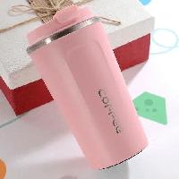 Термокружка 380ML из нержавеющей стали кружка термос для кофе чая в автомобиль и на природу BN-128 розовы