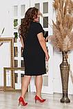 Стильное платье футляр с молниями ,3 цвета Р-р. 50-52;54-56;58-60 Код 6020Е, фото 6
