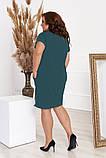 Стильное платье футляр с молниями ,3 цвета Р-р. 50-52;54-56;58-60 Код 6020Е, фото 10