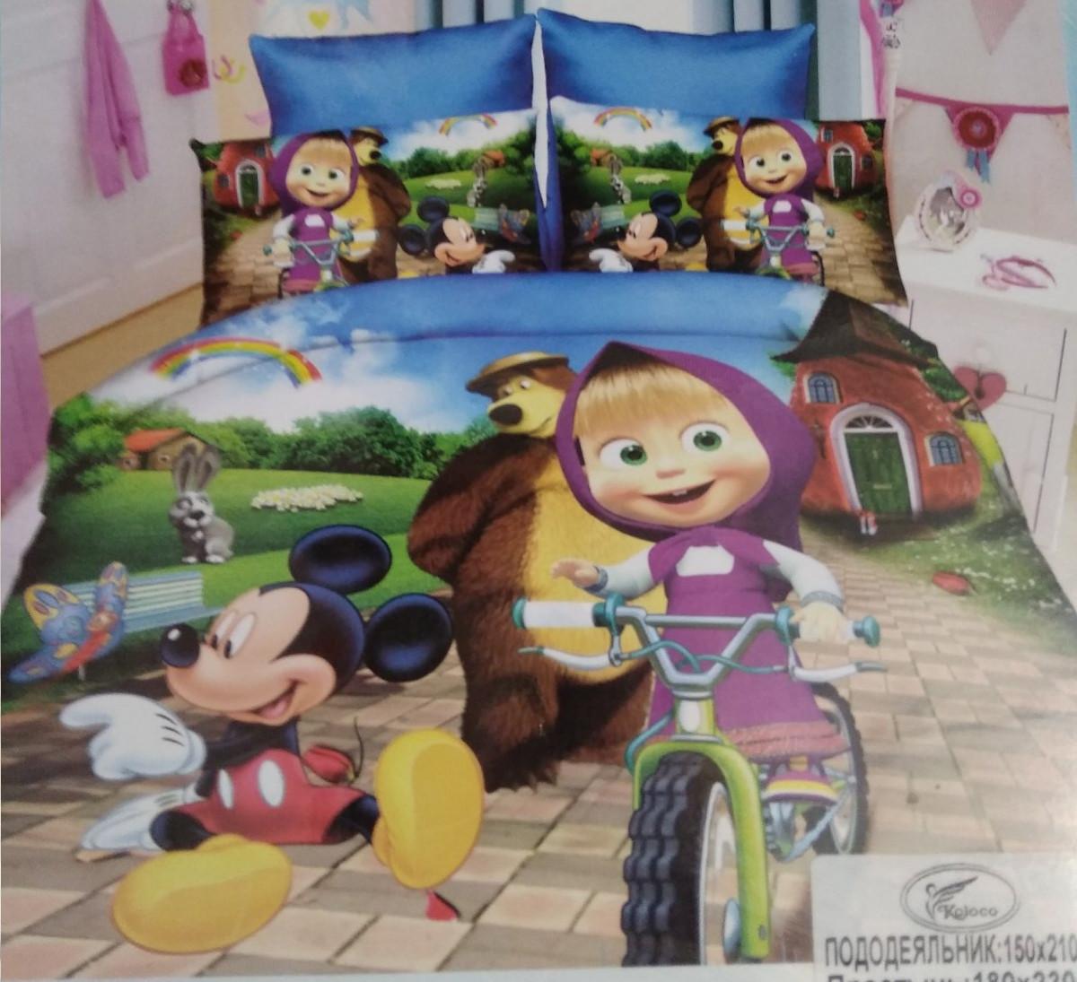 Детское полуторное постельное белье Koloco Маша і Медведь