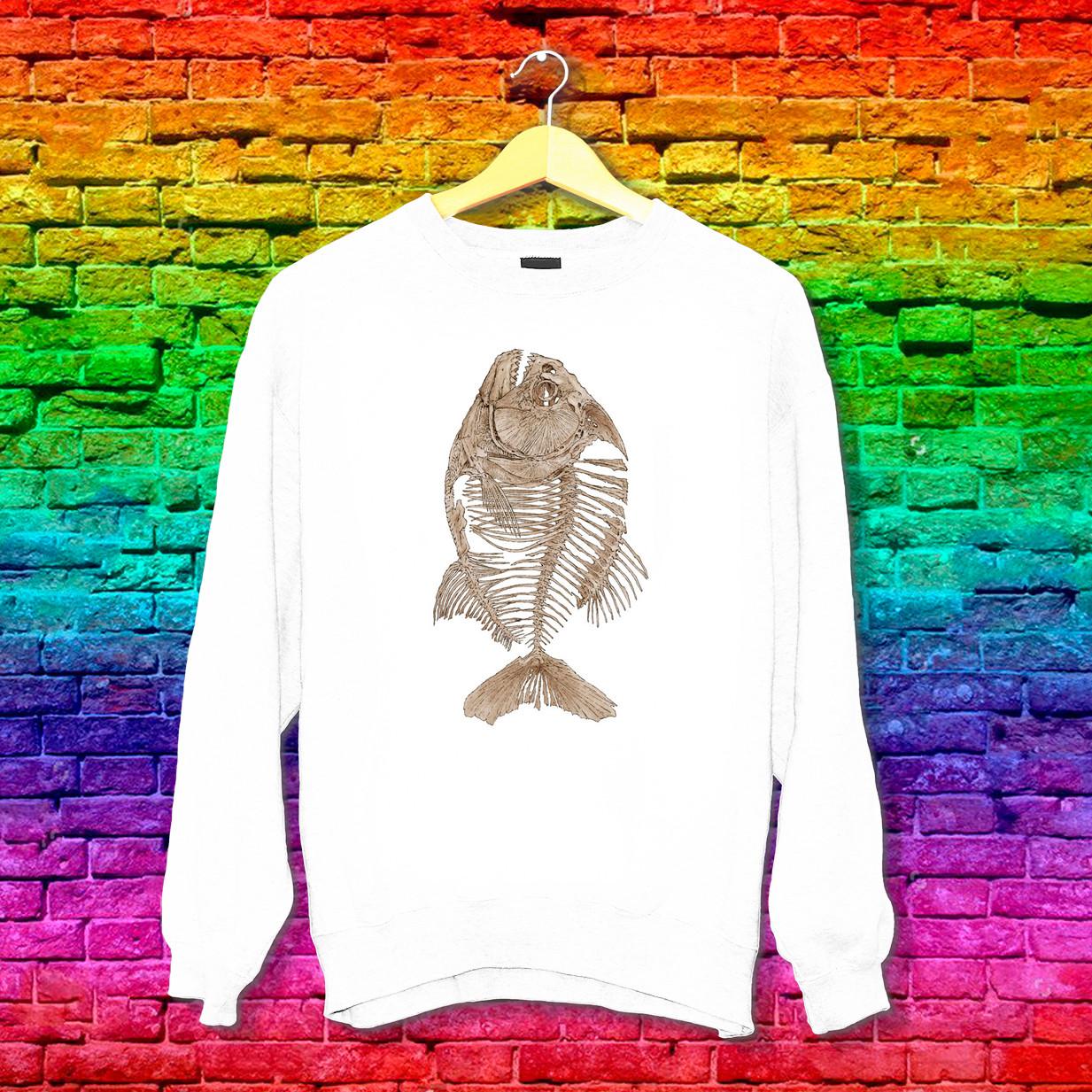 Світшот з принтом Скелет риби Push IT