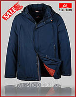 Теплая зимняя мужская куртка Malidinu battal (18819-1), куртки мужские, спортивная мужская куртка, Темно синий