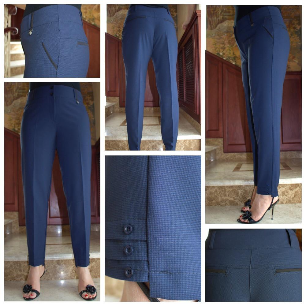 Универсальные классические брюки прямого кроя, дополнят образ деловой девушки, р.52,56,60 к.3122М