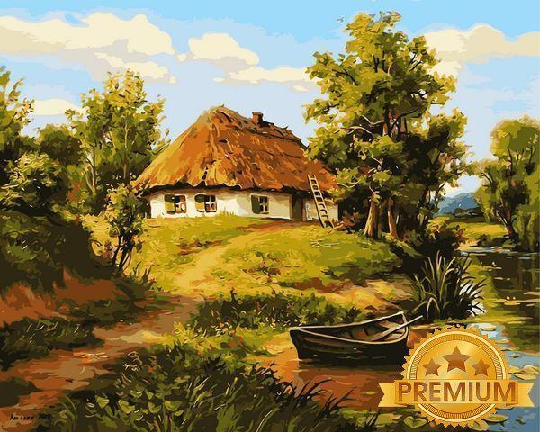 Картина по номерам 40×50 см. Babylon Premium (цветной холст + лак) Сонячний Дім (NB 356)