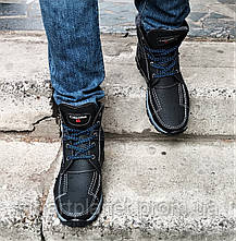 Ботинки ЗИМНИЕ Мужские Colambia Кроссовки на Меху Чёрные (размеры:40,41,42,43,44,45) Видео Обзор, фото 2
