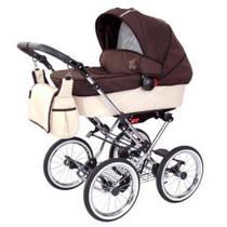 Zekiwa Tramper Детская коляска 2 в 1 Minikaro Braun-Beige