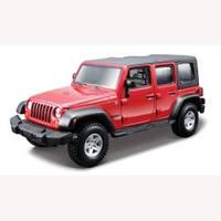 Авто-конструктор Bburago - Jeep Wrangler Unlimited Rubicon (красный, 1:32)