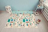 Бесплатная доставка! Двухсторонний детский складной коврик  (Дорожки/Поляна) размер 1,8 на 2 м, фото 2