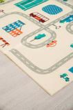 Бесплатная доставка! Двухсторонний детский складной коврик  (Дорожки/Поляна) размер 1,8 на 2 м, фото 4