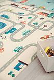Бесплатная доставка! Двухсторонний детский складной коврик  (Дорожки/Поляна) размер 1,8 на 2 м, фото 5