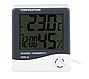 Комнатный термометр электронный с часами, фото 2
