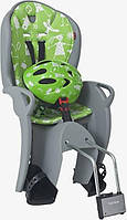 Комплект HAMAX Kiss Safety Package Велокресло детское заднее Kiss на подседельную трубу серое/зеленая