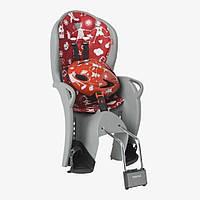 Комплект HAMAX Kiss Safety Package Велокресло детское заднее Kiss на подседельную трубу серое/красная