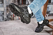 Кроссовки женские 15444, Nike React, черные, < 38 39 41 > р. 39-24,0см., фото 3