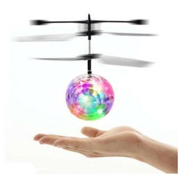 Летающий разноцветный шар Whirly Ball Led