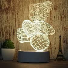"""3D Светильник """"Медведь"""""""