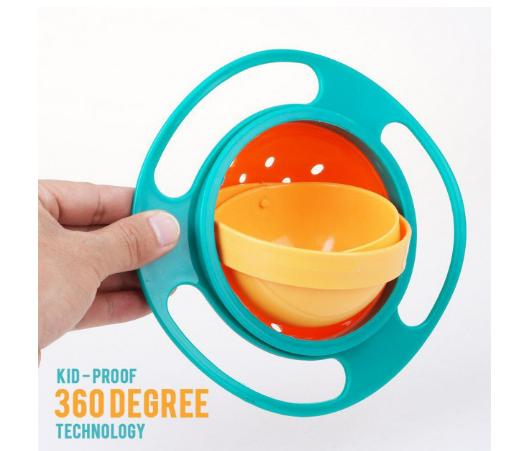 "Детская тарелка непроливайка неваляшка ""Universal Gyro Bowl"""