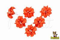 Цветы Фиалка Оранжевая с тычинками из фоамирана (латекса) 3 см 10 шт/уп
