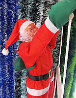 Хит! Яркая новогодняя Фигура Санта Клауса 50 см на лестнице