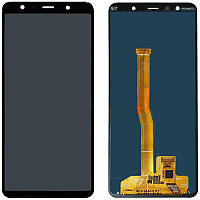 LCD Samsung A750/A7-2018 + touch Black Copy