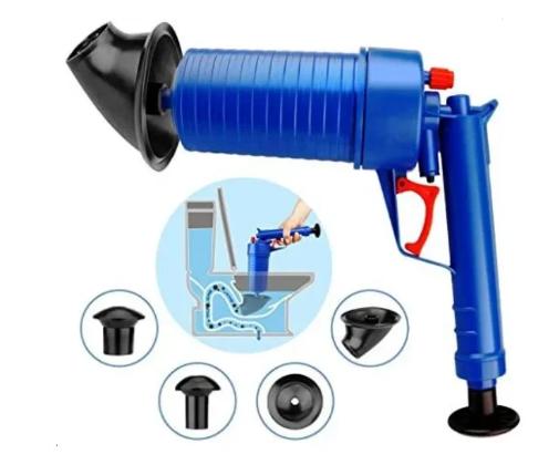Пневматический вантуз Toilet dredge Gun ручная для прочистки канализационных труб