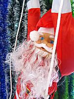 Фигура Деда Мороза подвесной (Санта Клауса) 90 см на лестнице