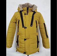 Зимняя куртка для подростка М17п Утепление двойным синтепоном Подкладка из меха М16п