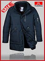 Теплая зимняя мужская куртка Malidinu (18832-2), куртки мужские,, мужская куртка удленненная, Темно синий