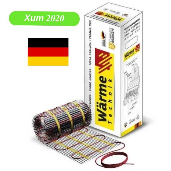 Теплый пол электрический 3.5 м2 Warme (Германия) нагревательный мат под плитку.