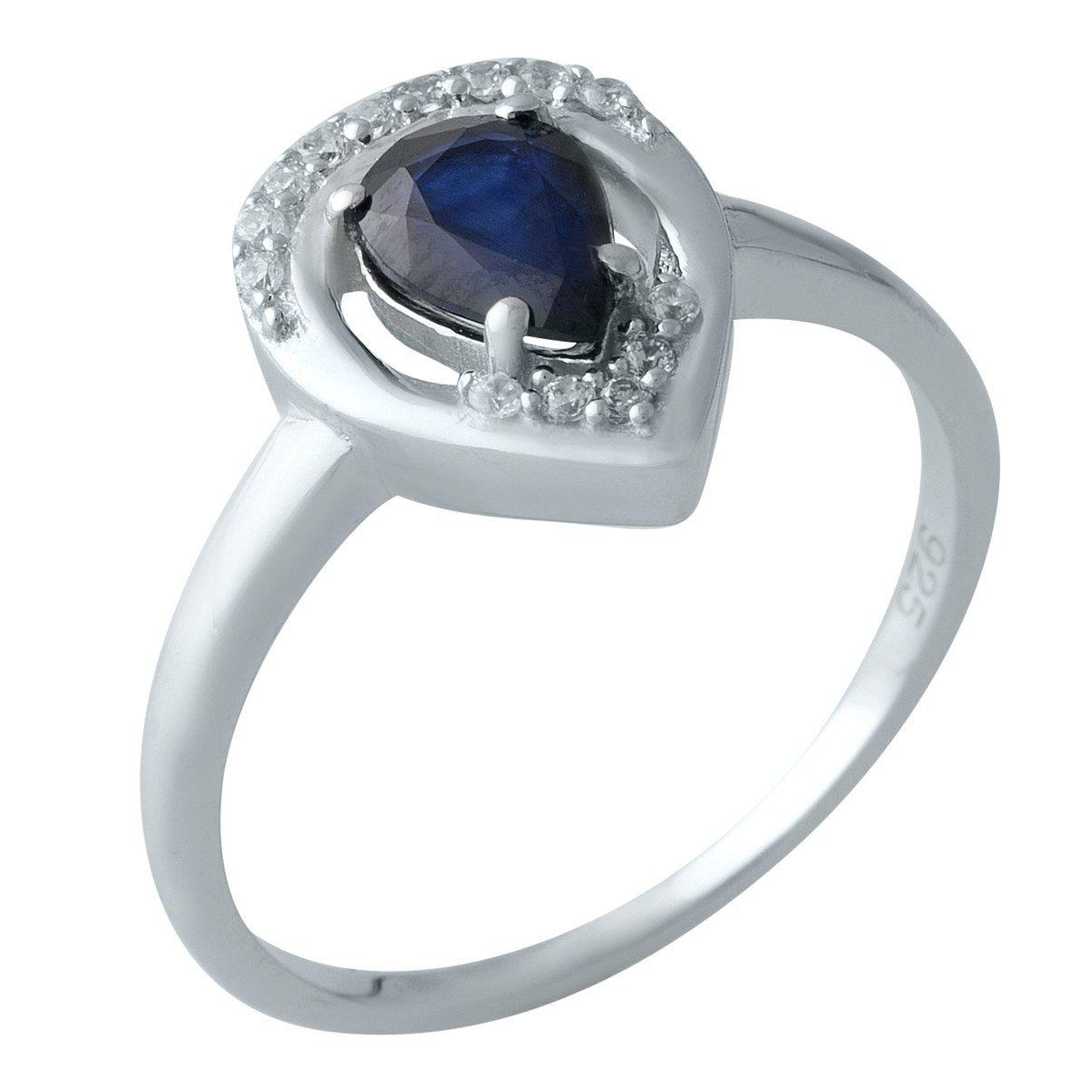 Серебряное кольцо DreamJewelry с натуральным сапфиром (2000563) 18 размер