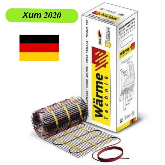 Теплый пол электрический 10.0 м2 Warme (Германия) нагревательный мат под плитку.
