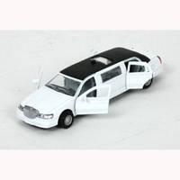Автомодель Технопарк - ЛИМУЗИН (белый, свет, звук)