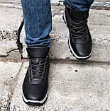 Ботинки ЗИМНИЕ Мужские Кроссовки МЕХ Чёрные Прошиты (размеры: 40,41,42,43,44,45) - 737, фото 4