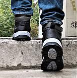Ботинки ЗИМНИЕ Мужские Кроссовки МЕХ Чёрные Прошиты (размеры: 40,41,42,43,44,45) - 737, фото 6