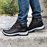 Ботинки ЗИМНИЕ Мужские Кроссовки МЕХ Чёрные Прошиты (размеры: 40,41,42,43,44,45) - 737, фото 8