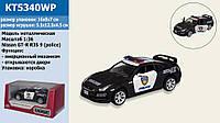 "Машина металл ""KINSMART"" ""Nissan GT-R (R-35) Police"", в кор. 16*8,5*7,5см /96-4/"