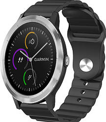 Ремешок Wave для Garmin Vivoactive 3 Black (Гармин Вивоактив 3)