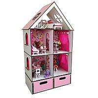 Кукольный домик для кукол LOL Little Fun maxi FANA + Мебель 12 единиц и БОКС для игрушек в подарок