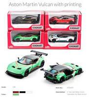 Модель легковая 5' KT5407FW Aston Martin Vulcan w/printing метал.инерц.откр.дв.4цв.кор./96/