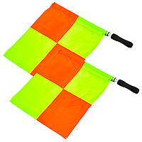 Комплект судейских флагов (футбольного арбитра) 2шт (полиэстер, PVC чехол)