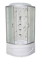 Душевой бокс TKF90 Белый Мрамор BG 90х90х30, прозрачное стекло, глубокий поддон, А0045666