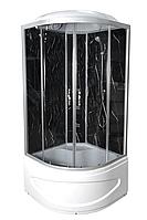 Душевой бокс TKF 100 Черный оникс WG 100x100x213, матовое стекло, глубокий поддон, А0045722