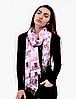 Шарф палантин Эшли 180*70 см розовый/серый