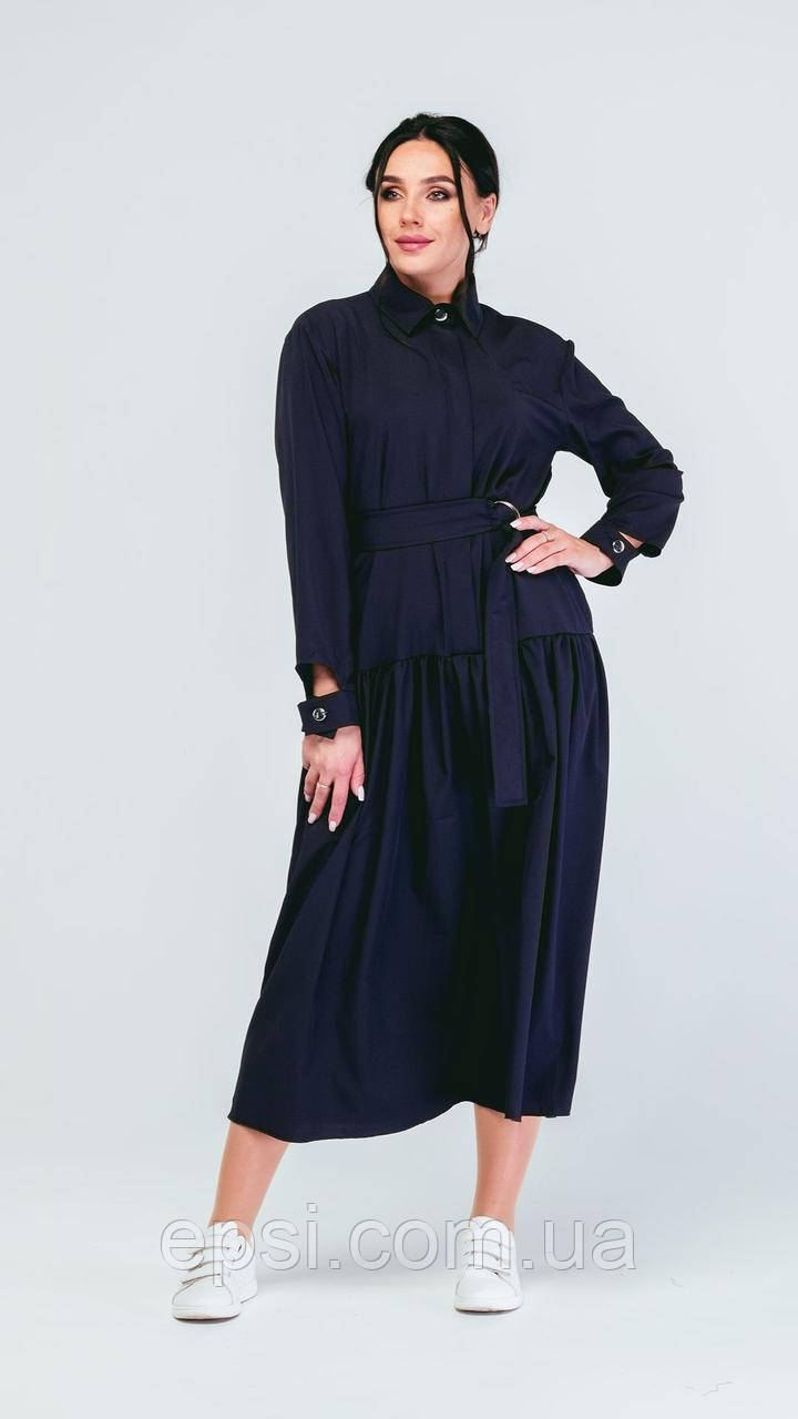 Платье Alpama SO-78235-BLU Черный 46