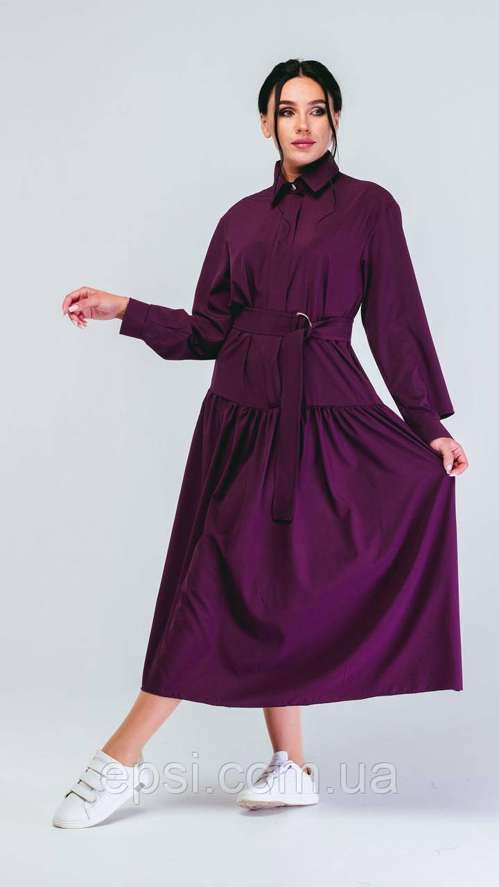 Платье Alpama SO-78235-FIO Фиолетовый 46